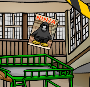 Club Penguin Ninja Poster Appears at Dojo!